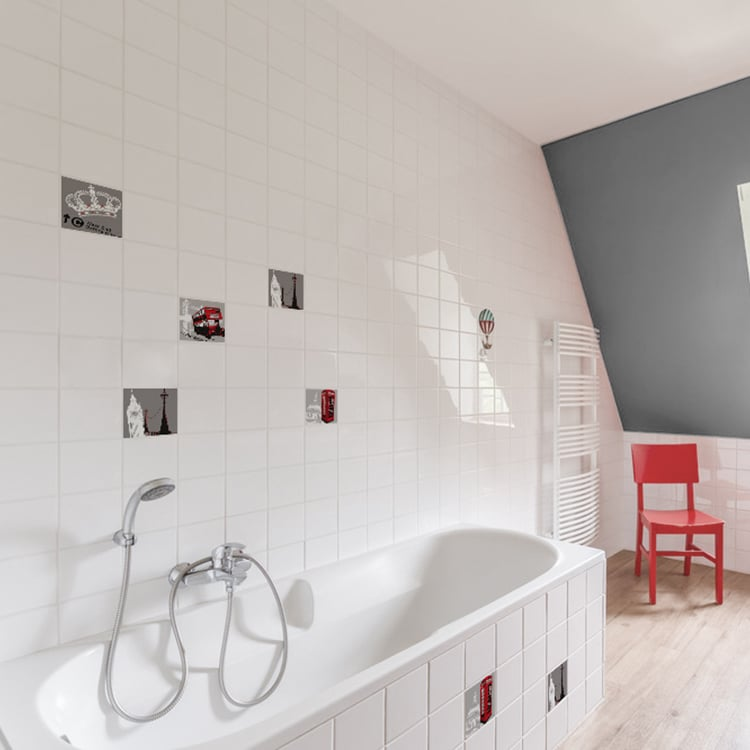 stickers carrelage mural toilettes