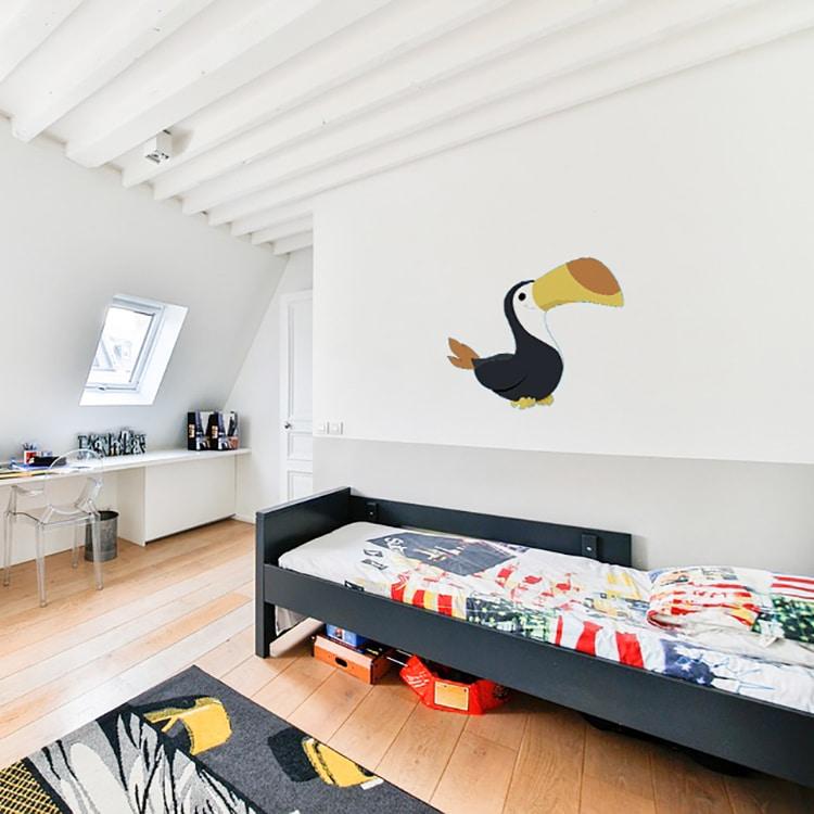 Sticker toucan adhésif pour chambre d'enfant