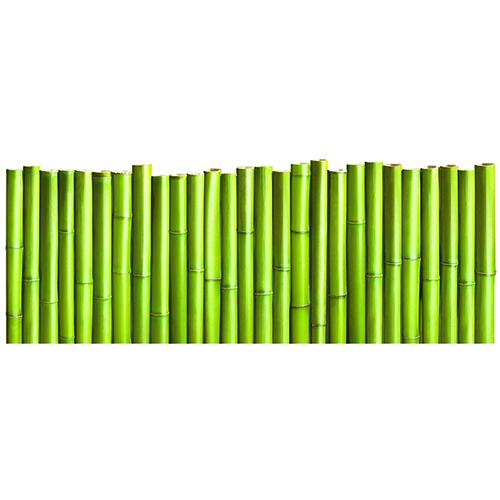 Autocollant Palissade de Bambous pour tête de lit vert