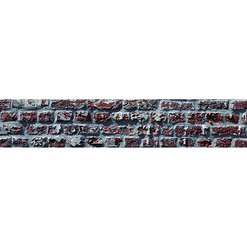 Autocollant brique rouge pour contremarches décoration d'escalier moderne mur blanc