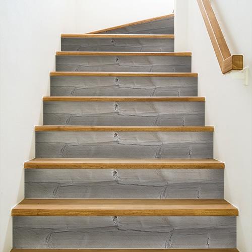 Sticker autocollant planche de bois pour déco de contremarches d'escalier