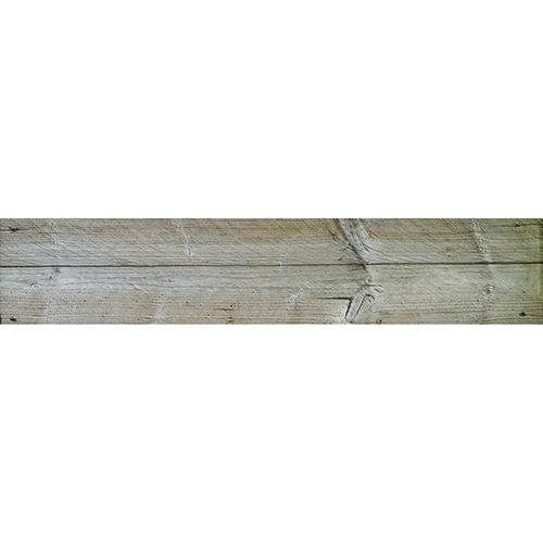 Autocollant imitation planche de bois contremarches pour déco d'escalier en bois clair mur briques
