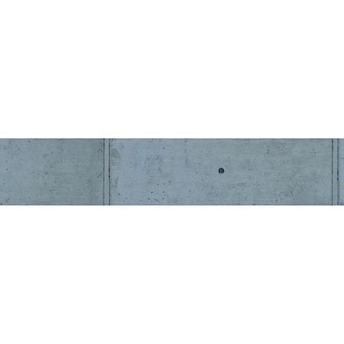 Sticker déco béton ciment pour contremarches d'escalier en bois gris