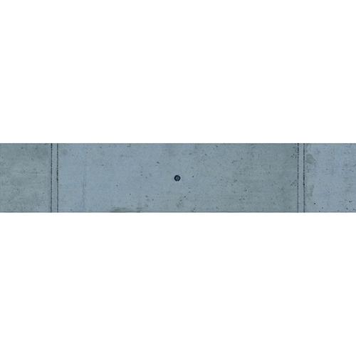 Adhésif déco contremarches béton ciment pour escalier en bois clair mur briques