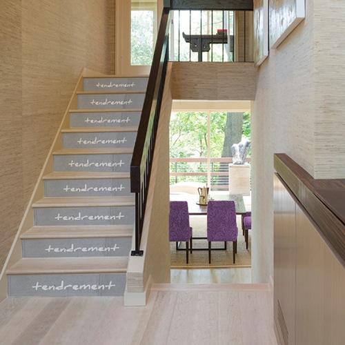 Marches d'escaliers avec adhésifs
