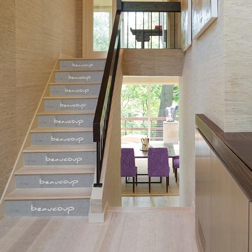 Autocollants pour escaliers avec écrit