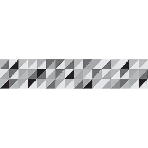 Sticker autocollant petits carrés design gris pour déco contremarches d'escalier