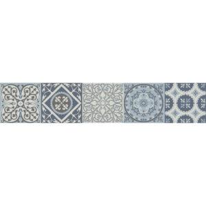 Sticker autocollant Coimbra bleu pour déco contremarches d'escalier