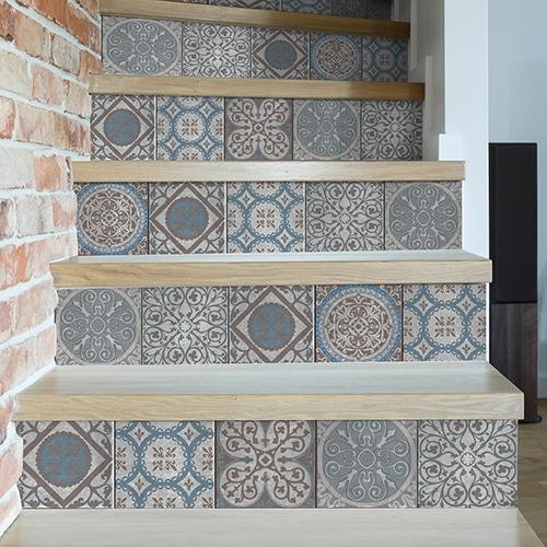 Sticker autocollant Thiva pour déco contremarches d'escalier