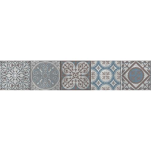 Sticker autocollant Thiva pour déco contremarches d'escalier avec carreaux de ciment