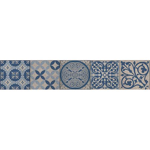 contremarche adh sive carreaux de ciment benistes bleu pour escaliers. Black Bedroom Furniture Sets. Home Design Ideas