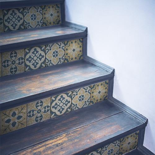 Sticker autocollant Celleta jaune pour déco contremarches d'escalier