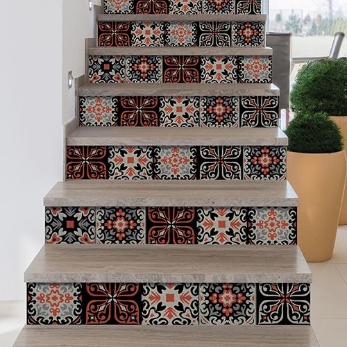 Sticker autocollant motif cantiano déco pour contremarches d'escalier