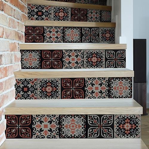 Sticker adhésif motif cantiano déco pour contremarches d'escalier