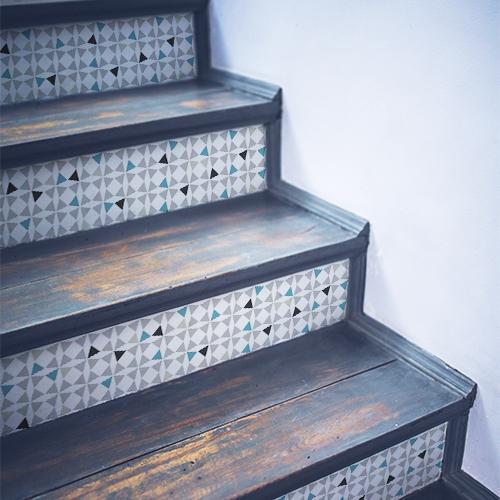 Sticker autocollant Amandola pour déco contremarches d'escalier