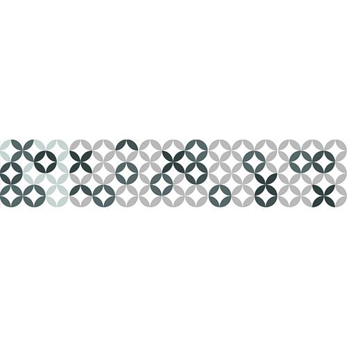 Mosaïque noire et grise à sticker sur des contremarches