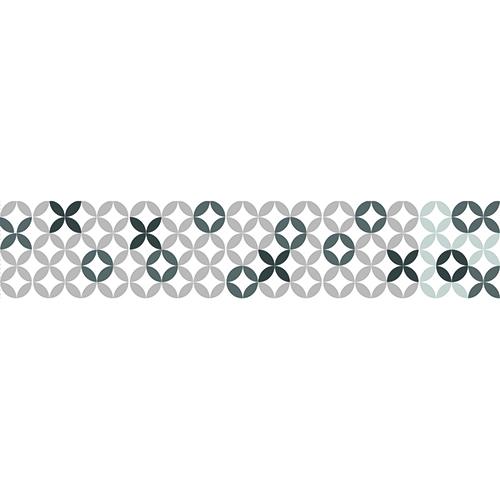 Sticker Mosaïque motif gris/noir sur fond blanc pour contremarche