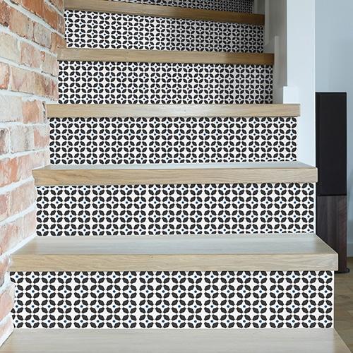 Sticker autocollant montefano pour déco contremarches d'escalier