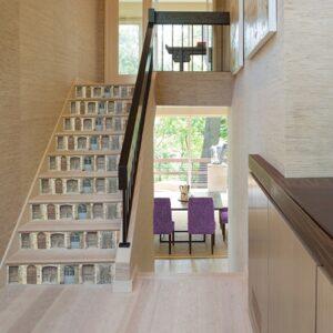 Doubles portes battantes à sticker sur vos contremarches d'escaliers