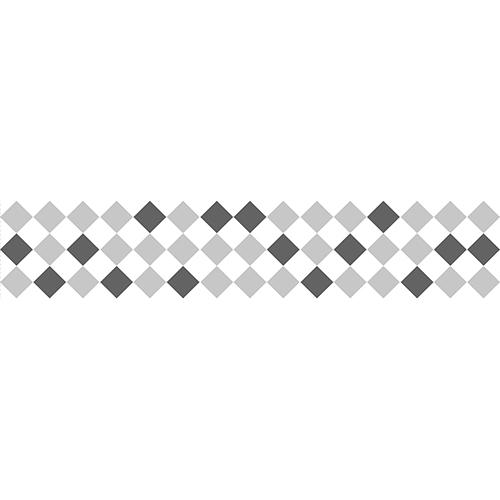 Mosaïque de Carrés blancs gris et noirs à sticker sur vos contremarches