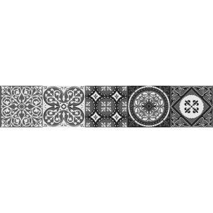 Stiker adhésif motif cerignola gris décoration contremarches