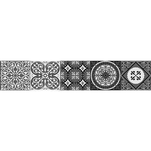 Motifs noirs et gris imitation ciment pour vos contremarches d'escaliers