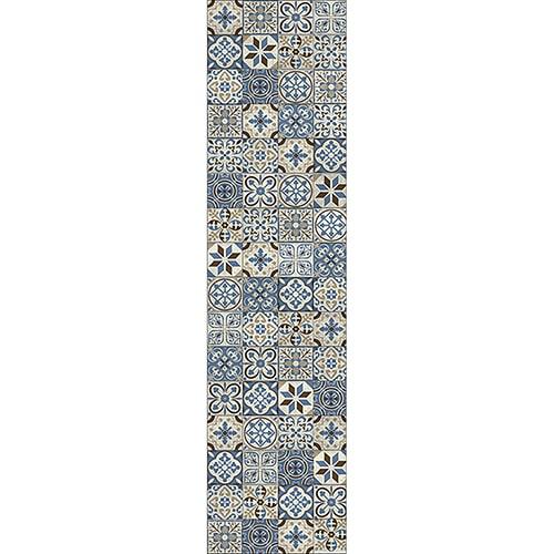 Sticker adhésif carreaux de ciment bleu taupe déco murale