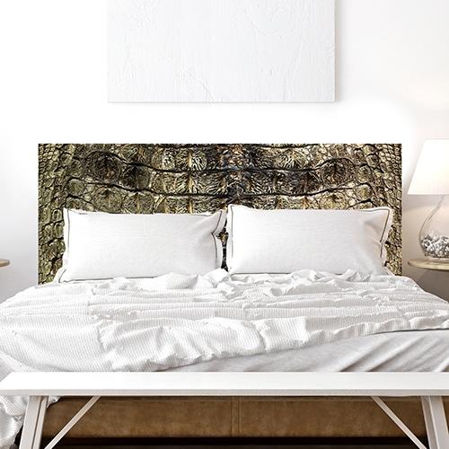 Stickers croco pour tête de lit dans une chambre