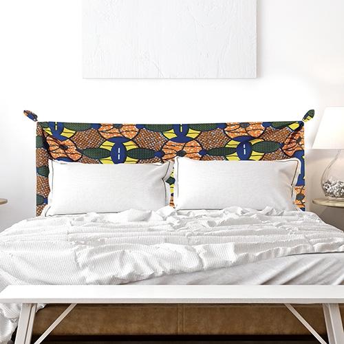 Sticker adhésif Bamako déco tête de lit coloré pour chambre
