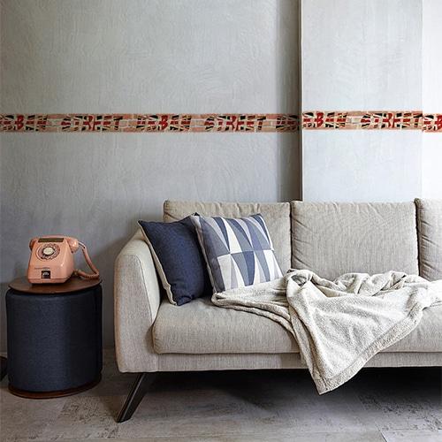 Sticker adhésif frises droites urban street dans un salon