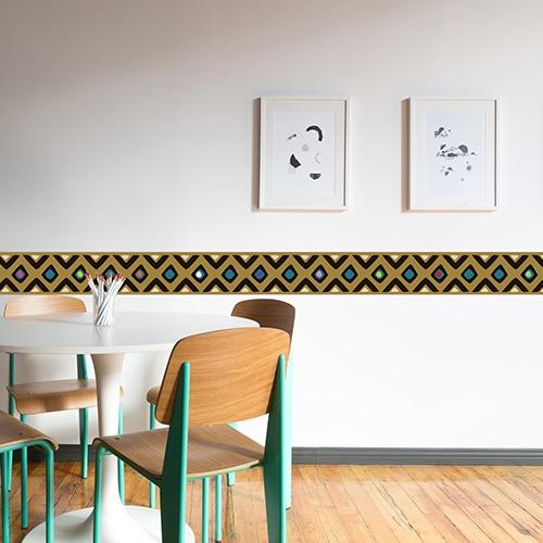 Sticker frises droites dans une salle à manger