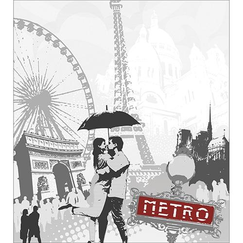 Sticker adhésif Paris pour électroménager