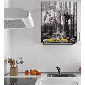 Sticker mural New York pour électroménager dans une cuisine