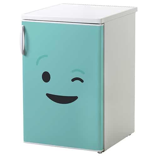 Stickers autocollants pour électroménager Smiley Clin d'Oeil Bleu