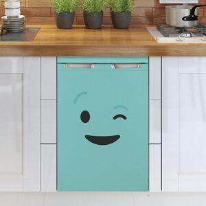 Stickers déco pour électroménager Smiley Clin d'Oeil Bleu