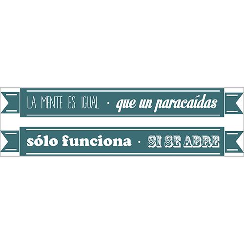 Sticker citation colorée en espagnol LA MENTES Y EL PARACAIDA