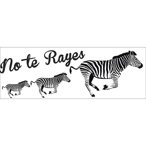 Sticker mural citation avec des zèbres noirs et blancs à coller