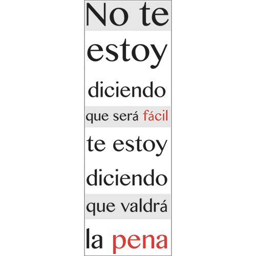 Sticker mural citation en espagnol No Te Estoy