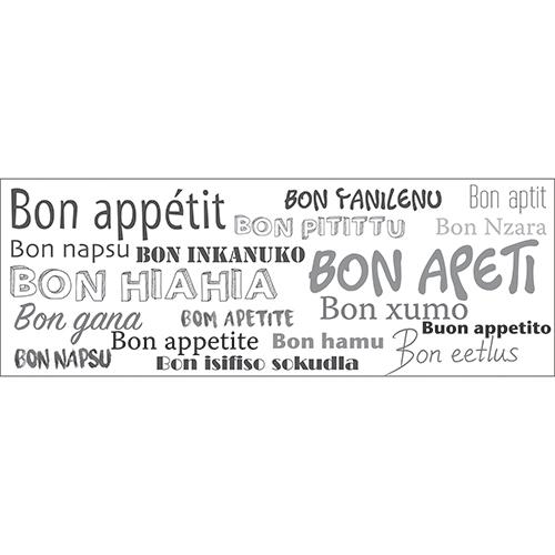 Sticker citation traduction Bon Appétit en beaucoup de langues