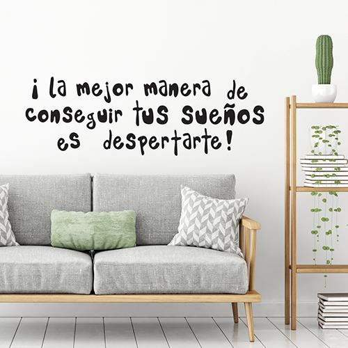 Sticker autocollant La Mejor Manera au dessus d'un canapé dans un salon