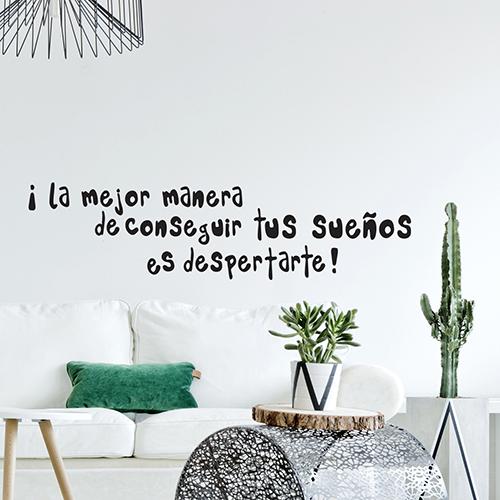 Citation murale adhésive espagnol La Mejor Manera dans un salon éclairé citation motivation