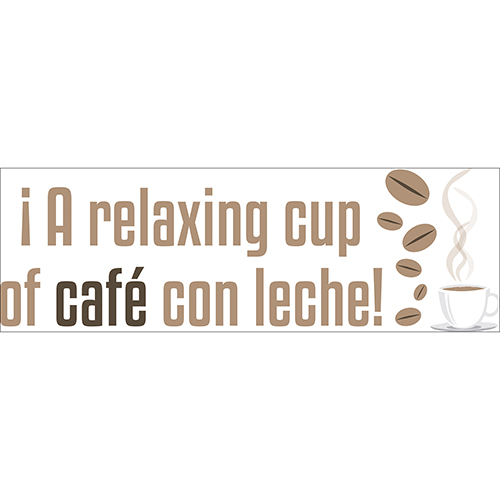 Sticker citation autocollante A Relaxing Cup
