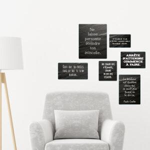 Citation murale ne crains pas d'échouer dans un salon