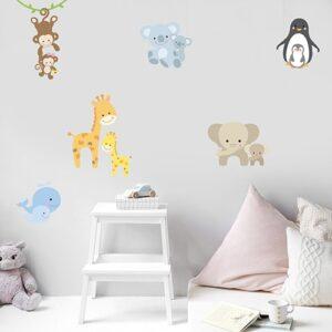 Sticker planche au dessus d'un lit Animaux