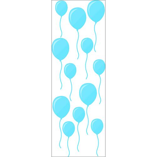Sticker adhésif Ballons bleus décoration murale
