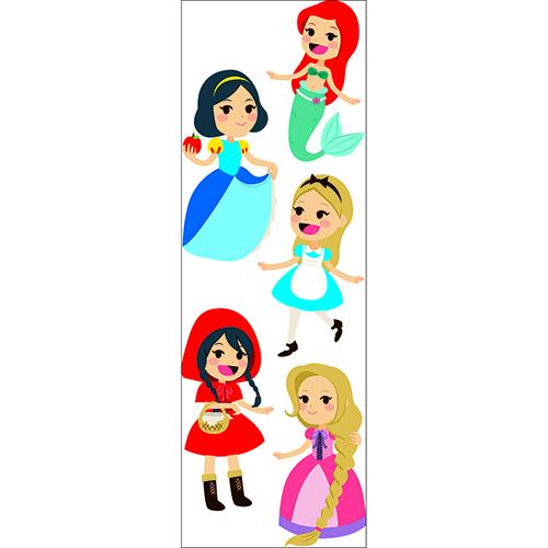 Sticker adhésif Princesses des contes décoration murale