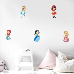 Sticker adhésif Princesses des contes déco dans une chambre d'enfant