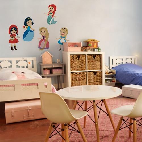 Sticker autocollant Princesses des contes dans une chambre
