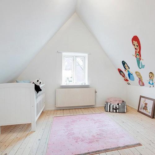 Sticker autocollant Princesses des contes déco dans une chambre
