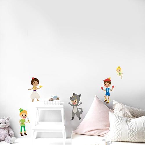 Sticker autocollant Princes des contes dans une chambre d'enfant
